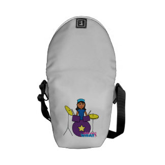 Drummer - Dark Messenger Bag