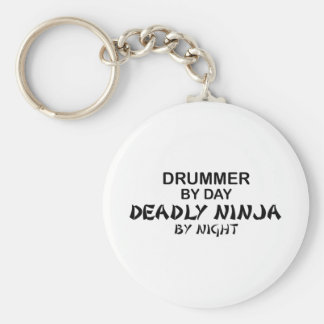 Drummer Deadly Ninja by Night Keychain