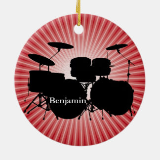 Drummer Drum Set Design Ornament