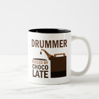 Drummer (Funny) Chocolate Two-Tone Coffee Mug