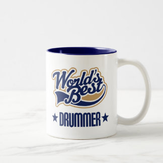 Drummer Gift (Worlds Best) Two-Tone Coffee Mug