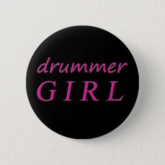 Drummer Girl 2 Inch Round Button