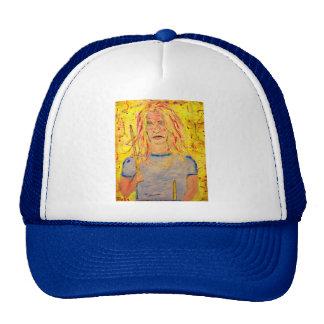 drummer girl art trucker hat