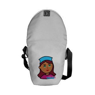Drummer Girl Messenger Bags