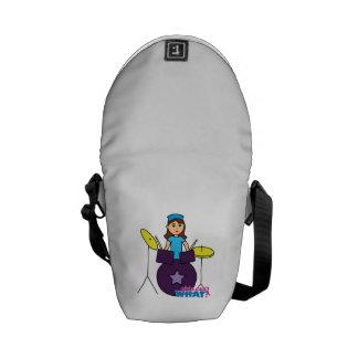 Drummer Girl Courier Bag