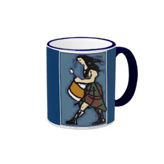 Drummer in Blue Ringer Coffee Mug