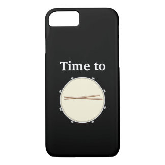 Drummer iPhone Case Time to Drum Snare Drumsticks