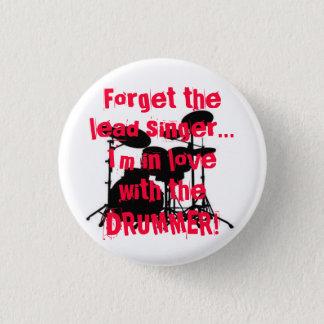 drummer love 1 inch round button