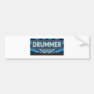 Drummer Marquee Bumper Sticker