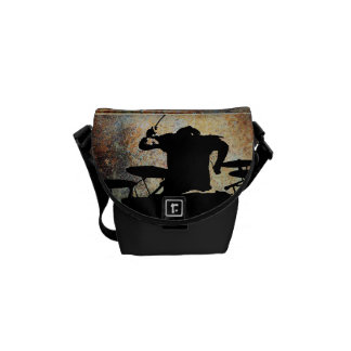 Drummer mini Bag, Copyright Karen J Williams Messenger Bag