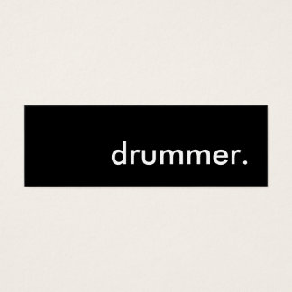 drummer. mini business card