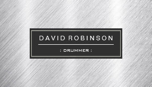 Drummer business cards business card printing zazzle ca drummer modern brushed metal look business card colourmoves