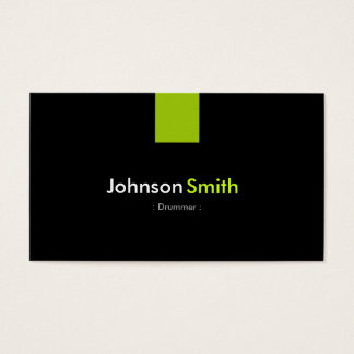 Drummer Modern Mint Green Business Card