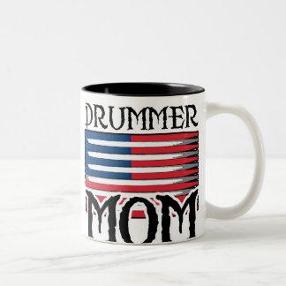 Drummer Mom Two-Tone Coffee Mug