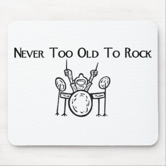 Drummer Never Too Old To Rock Mouse Pads