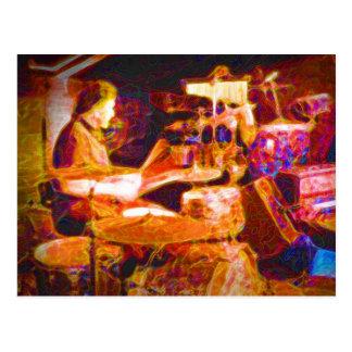 drummer on stage  behind kit artistic.jpg postcard