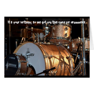 Drummer Percussionist Birthday Card for Kicks