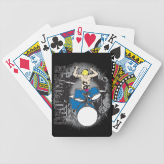 Drummer Playing Cards For Music Lovers