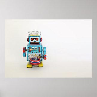 Drummer Robot Poster