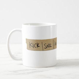 Drummer Sound Board Tape Classic White Coffee Mug