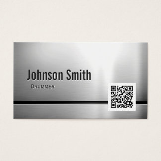 Drummer - Stainless Steel QR Code Business Card