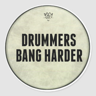 Drummers Bang Harder Funny Drummer Stickers