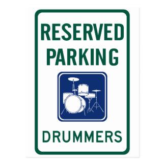 Drummers Parking Postcard