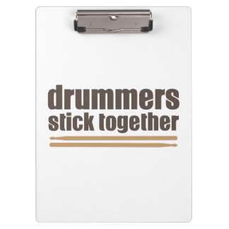 Drummers Stick Together Clipboard