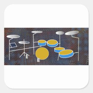 Drumming Along! Square Sticker