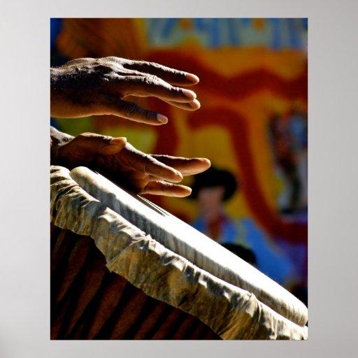 Drumming Hands Poster