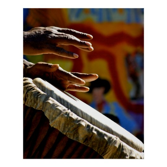 Drumming Hands Poster