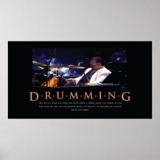 Drumming Poster