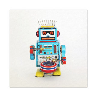 Drumming Robot Canvas Print