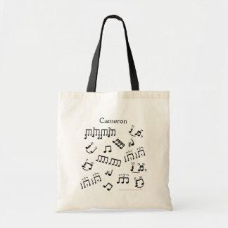 Drumming Tote Bag Musical Drum Notes for Drummers