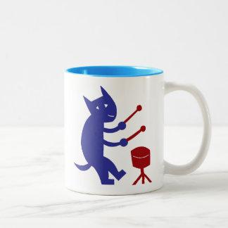 Drumming Two-Tone Coffee Mug