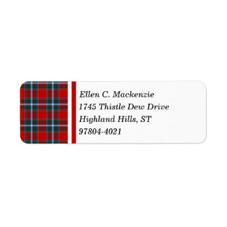 Drummond Clan Bright Red and Sky Blue Tartan