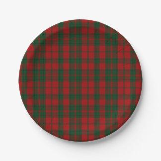 Drummond Clan Tartan Plaid Paper Plate