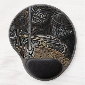 drums and cymbals mouse pad gel mouse pad