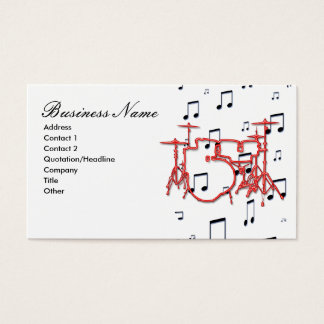 Drums and Music Notes Business Card