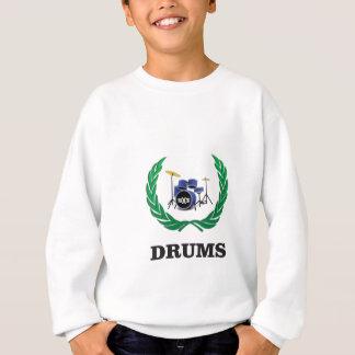drums blue sound sweatshirt
