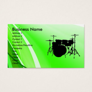 Drums Business Card