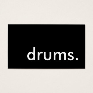 drums. business card