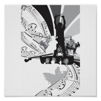 drums cello poster