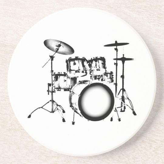 """Drums """"Drawing"""" Coaster"""