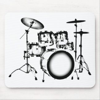 "Drums ""Drawing"" Mouse Pad"