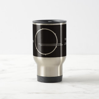 Drums Drummer Percussion Minimal Black Music Cool Travel Mug