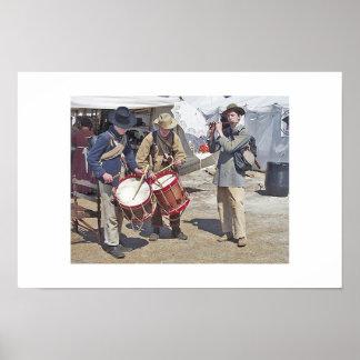 Drums & Flute Poster