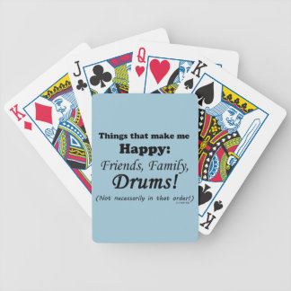 Drums Make Me Happy Bicycle Playing Cards