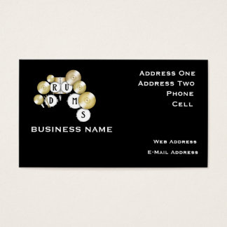 Drums - Music Business Card