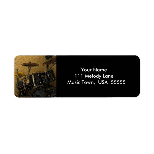 Drums Music Label Return Address Label